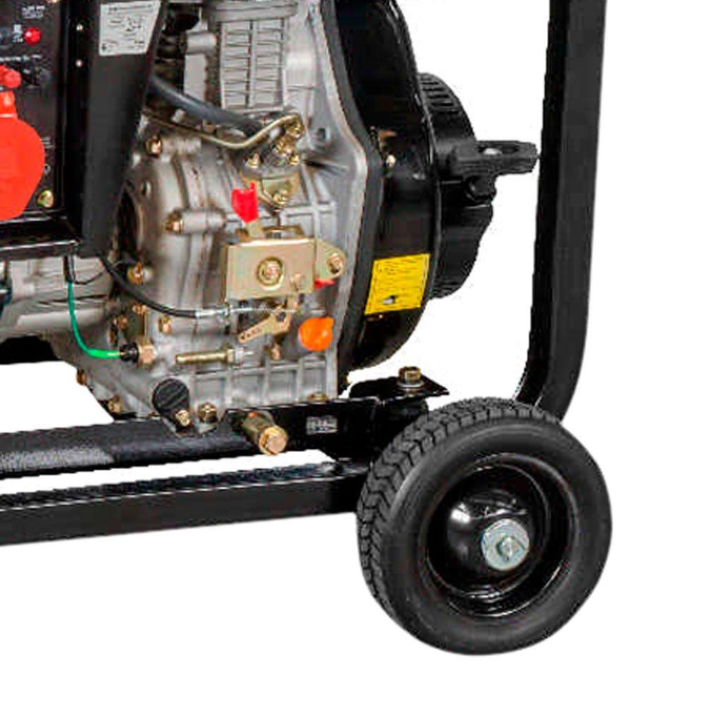 Gerador de Energia a Diesel com Corrente Alternada 4,6Kva 418 CC 380V Trifásico com Partida Elétrica S5000TD - Imagem zoom