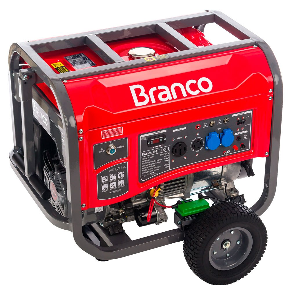 Gerador de Energia à Gasolina 18.5HP 11Kva Monofásico 110/220V AVR B4T 11000E com Partida Elétrica - Imagem zoom