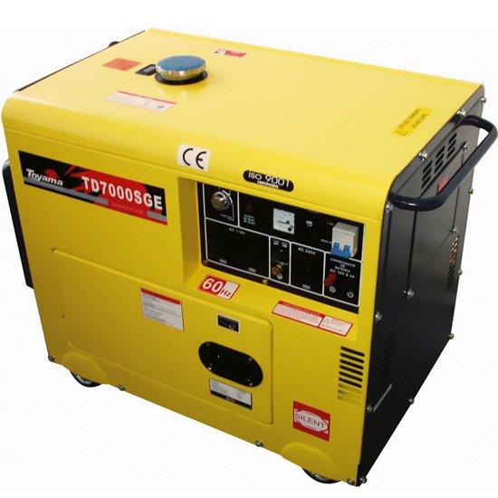 Gerador de Energia Cabinado a Diesel 4T Partida Elétrica 6 Kva 110/220V - Imagem zoom