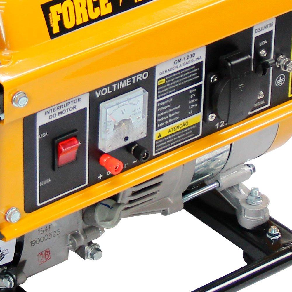 Gerador de Energia Portátil a Gasolina 4T 1,2Kva  Partida Manual - Imagem zoom
