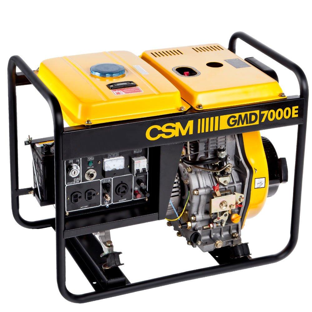 2652d303649 Gerador de Energia Portátil a Diesel 4T Partida Manual e Elétrica 6 ...