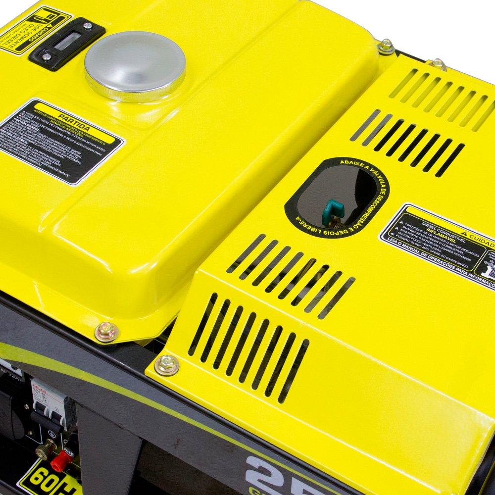 Gerador de Energia à Diesel 4T Partida Manual 2,2 Kva 110/220V - Imagem zoom