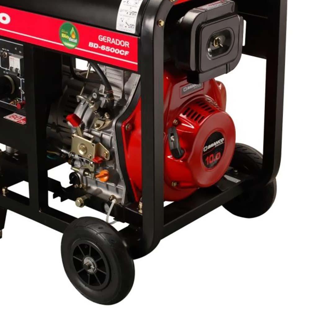 Gerador de Energia à Diesel Monofásico 5,5Kva 110/220V BD-6500 E - Imagem zoom