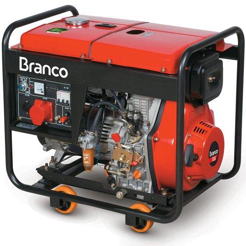 Gerador de Energia Diesel 6500w Branco Monofásico Bivolt - 90314593