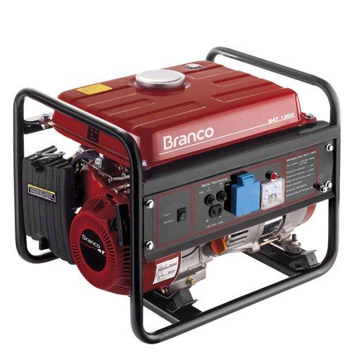 Gerador de Energia Gasolina 1300w Branco Monofásico 110v - 903132