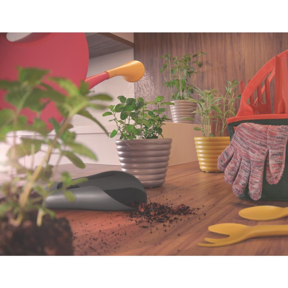 Pazinha Mini Larga para Jardinagem em Polipropileno Amarelo - Imagem zoom