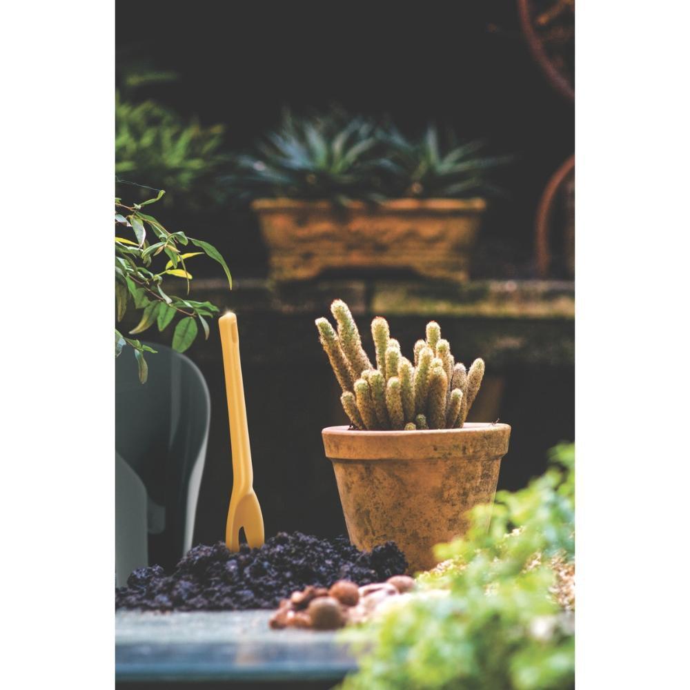 Pazinha Mini Estreita para Jardinagem em Polipropileno Amarelo - Imagem zoom