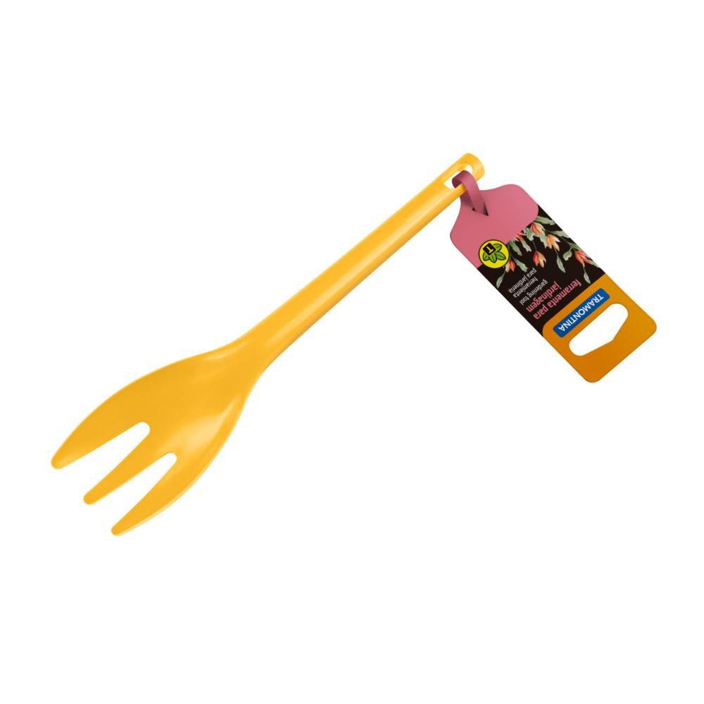 Garfinho Mini para Jardinagem em Polipropileno Amarelo - Imagem zoom