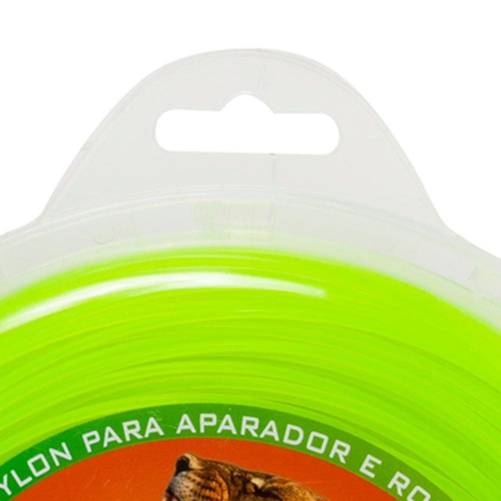 Fio de Nylon Amarelo Quadrado 3mm 450g 44m Auto Rendimento  - Imagem zoom