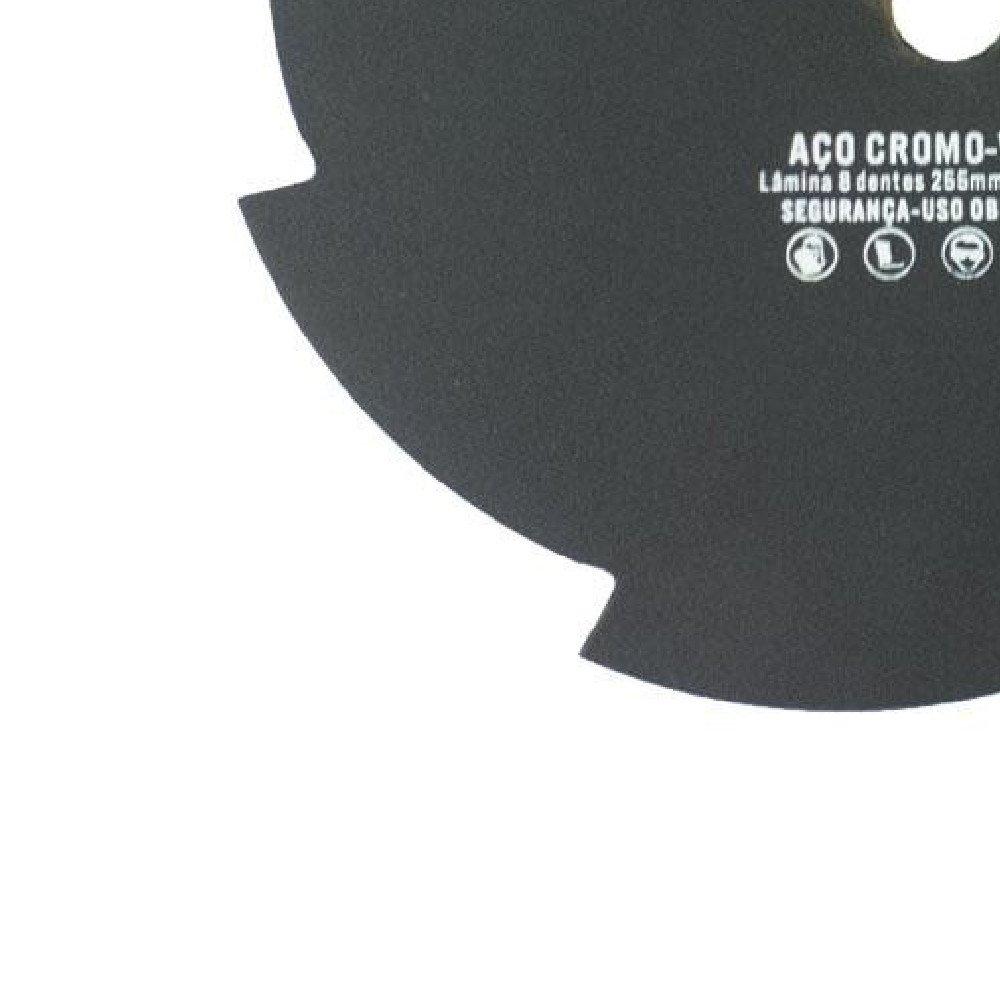 Lâmina de Corte 8 pontas 20 x 255 mm para Roçadeira - Imagem zoom