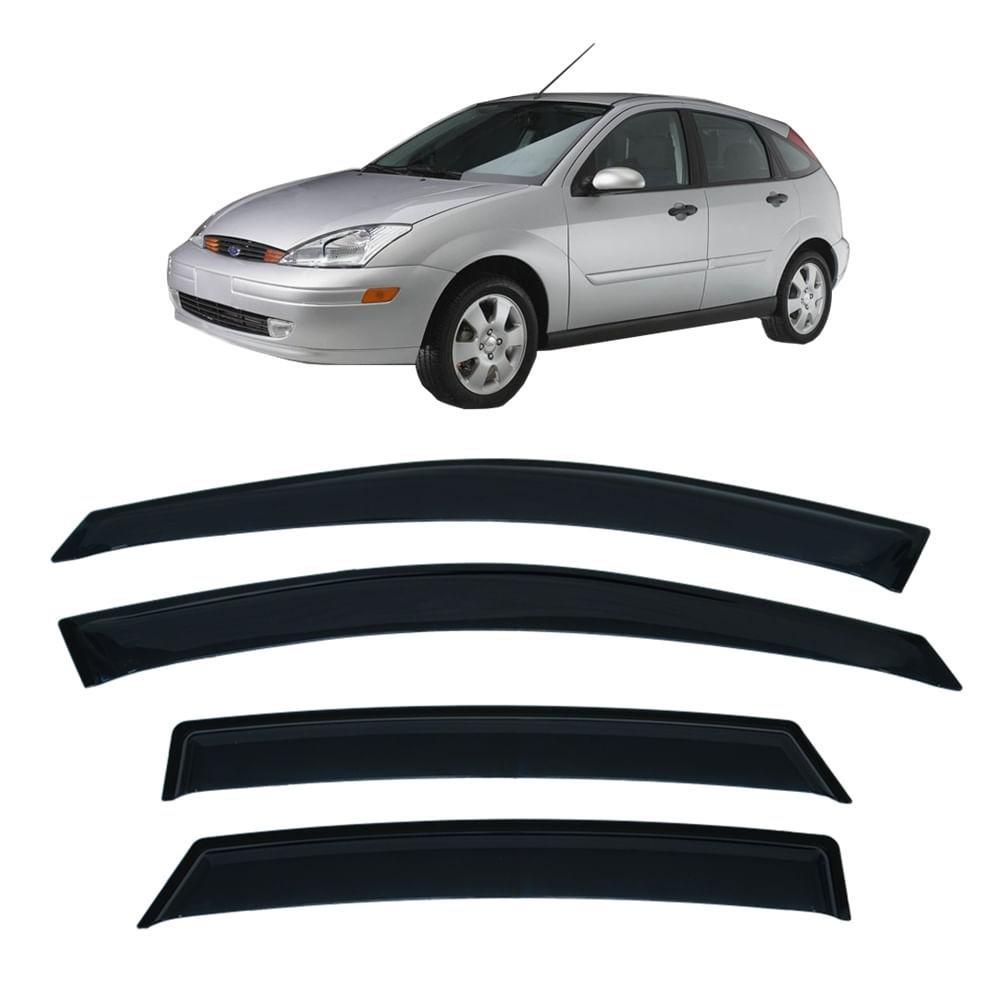 Calha de Chuva 4 Portas Ford Focus Hatch e Sedan 2001 até 2009 - Imagem zoom