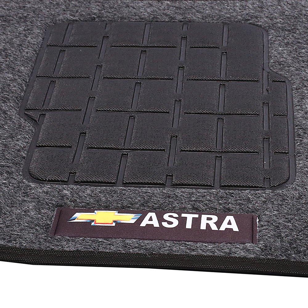 Jogo de Tapetes Carpete Astra à partir de 99 Grafite com 5 Peças - Imagem zoom