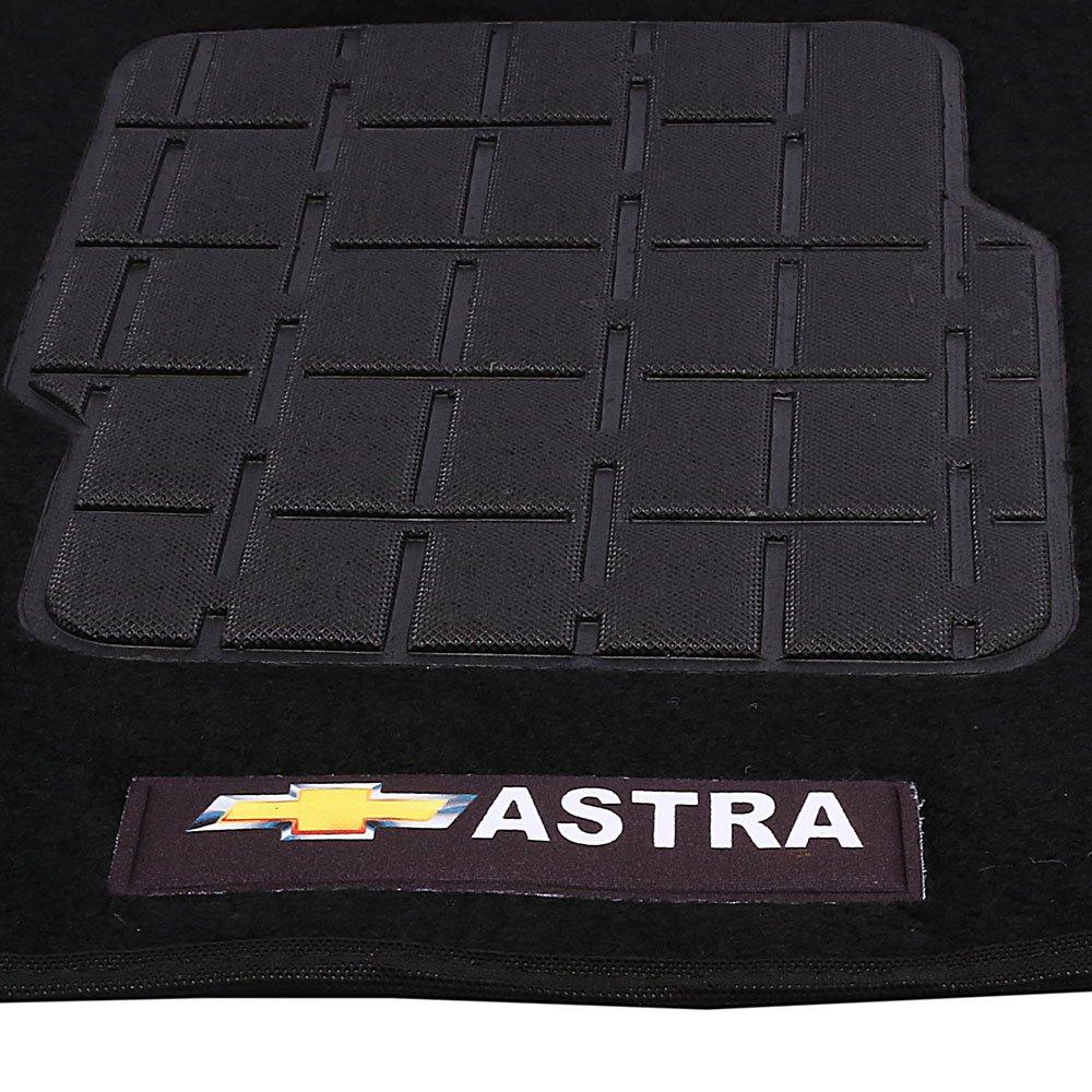 Jogo de Tapetes Carpete Astra à partir de 1999 Preto com 5 Peças - Imagem zoom
