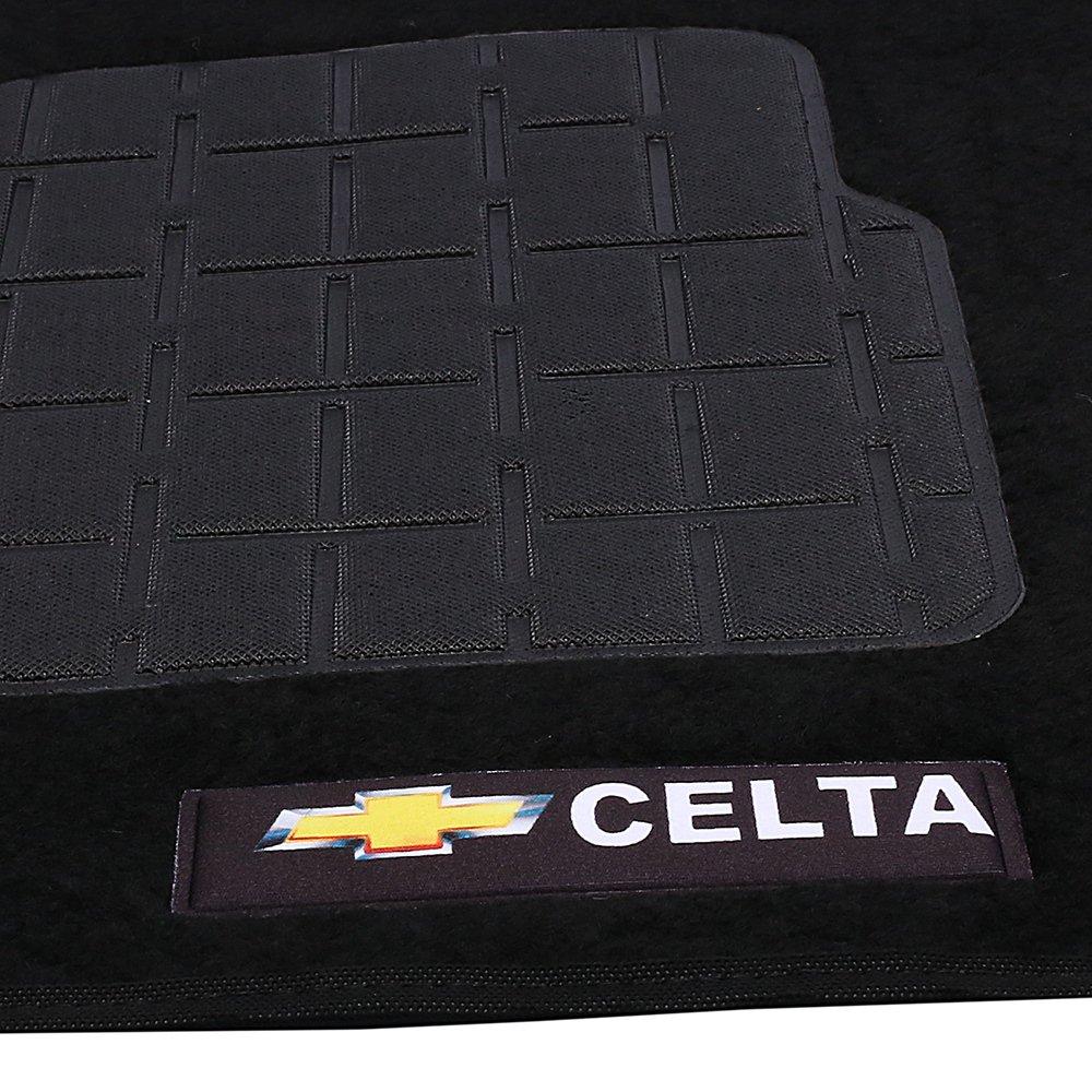 Jogo de Tapetes Carpete Celta Universal Preto com 5 Peças - Imagem zoom