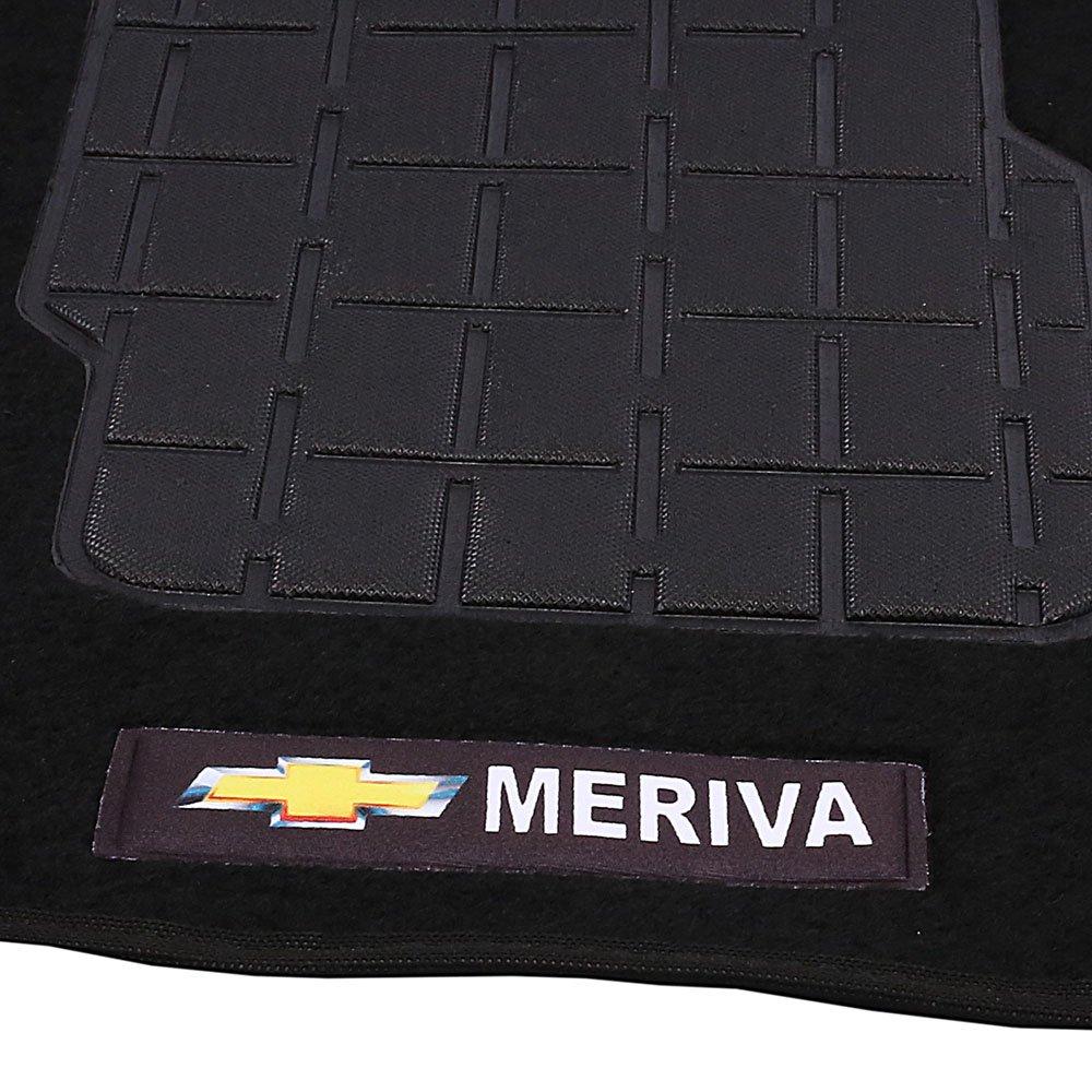 Jogo de Tapetes Carpete Meriva Universal Preto com 5 Peças - Imagem zoom