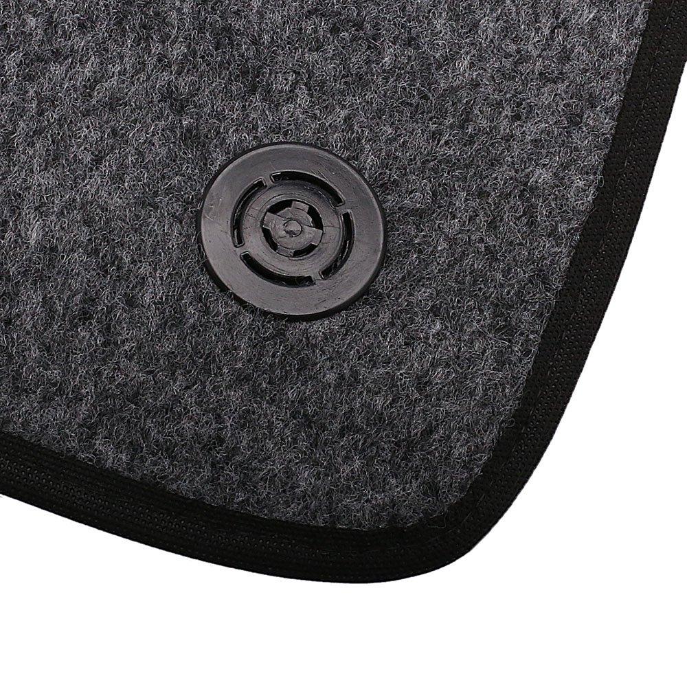 Jogo de Tapetes Carpete Meriva Universal Grafite com 5 Peças - Imagem zoom
