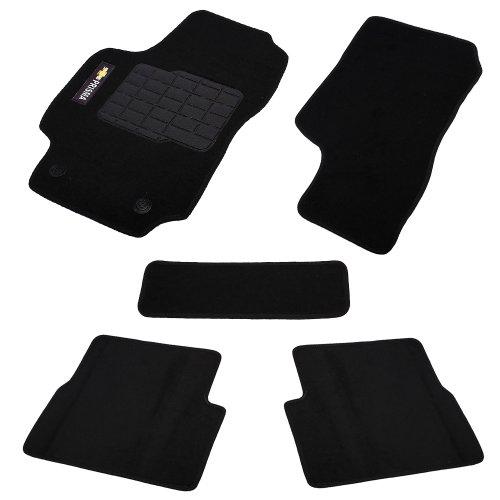 jogo de tapetes carpete prisma 06/12 universal preto com 5 peças