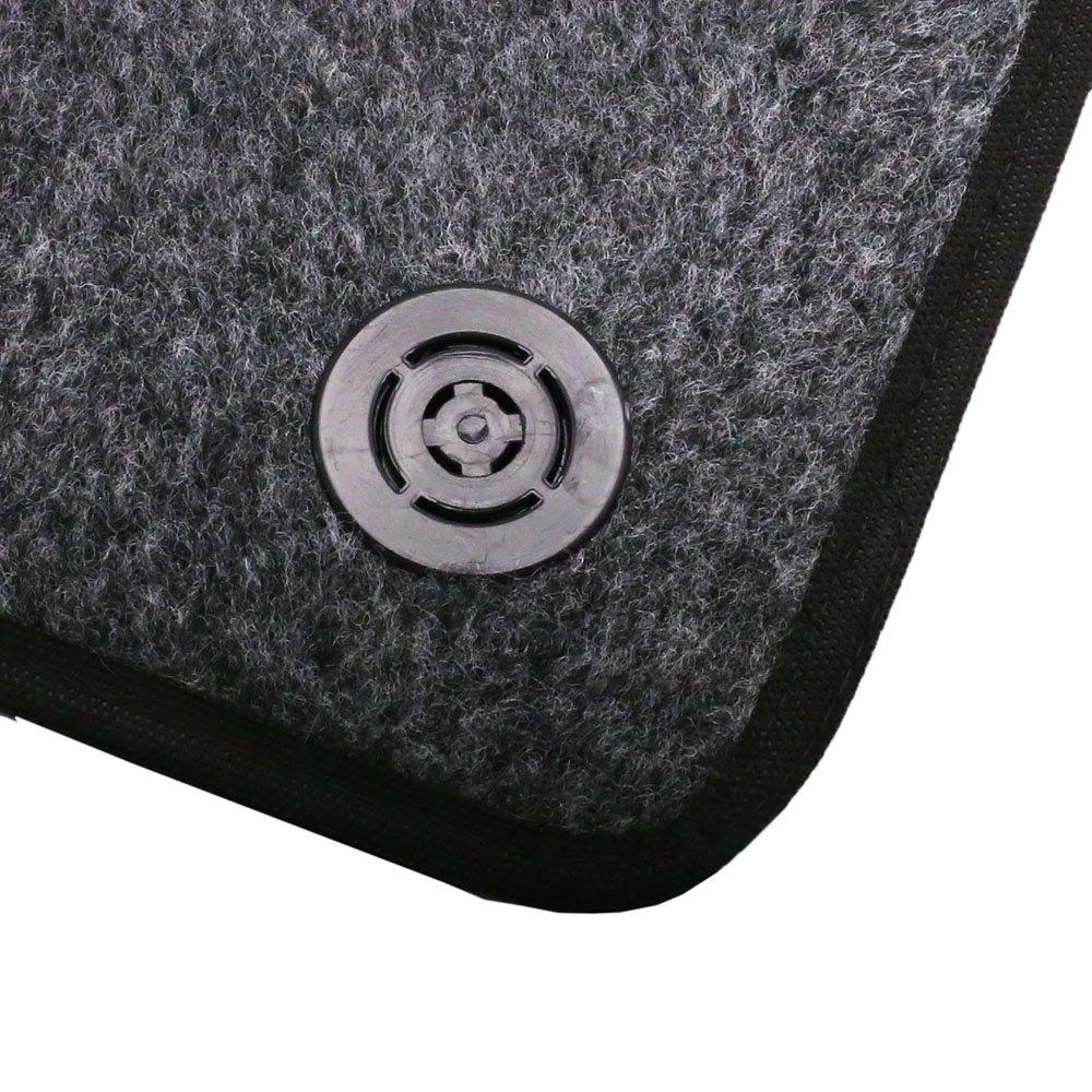 Jogo de Tapetes Carpete Cobalt Universal Grafite com 5 Peças - Imagem zoom