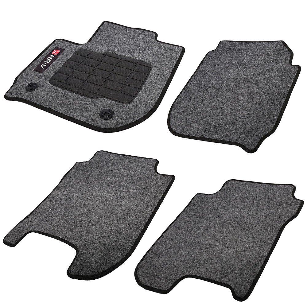 Jogo de Tapetes Carpete Honda HR-V Universal Grafite com 4 Peças - Imagem zoom