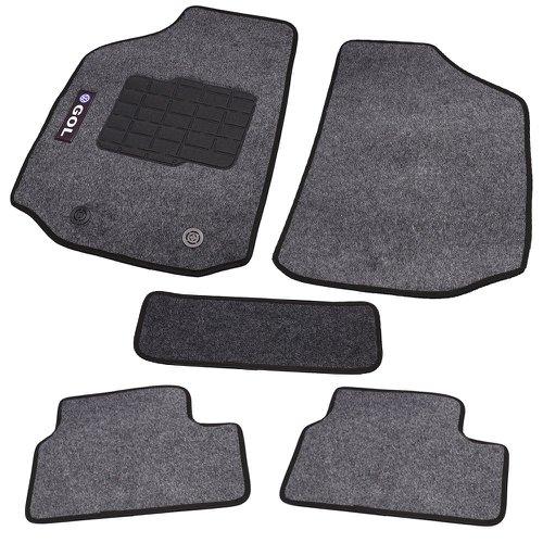jogo de tapetes carpete gol g2/3/4 universal grafite com 5 peças