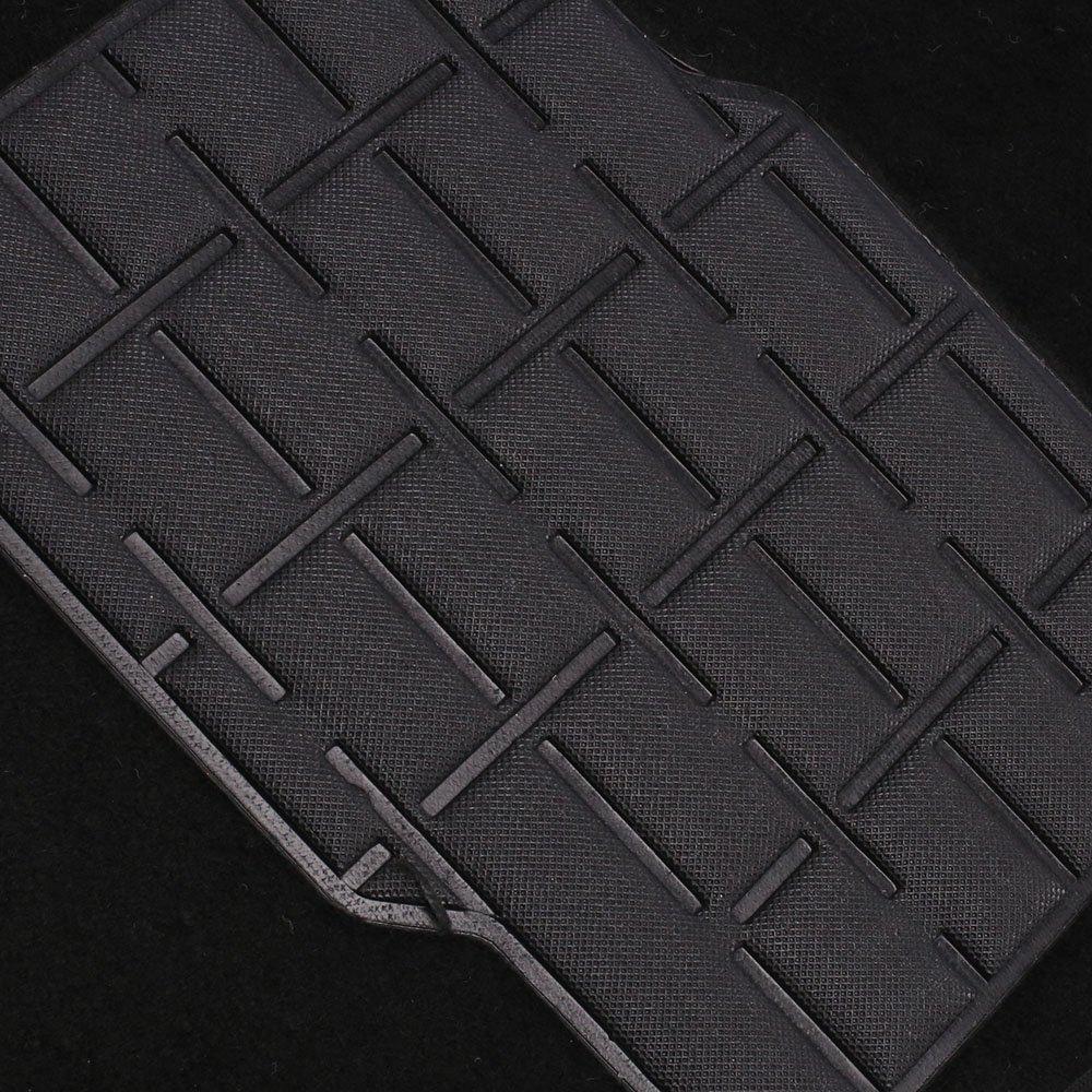 Jogo de Tapetes Carpete Polo 07/14 Universal Preto com 5 Peças - Imagem zoom