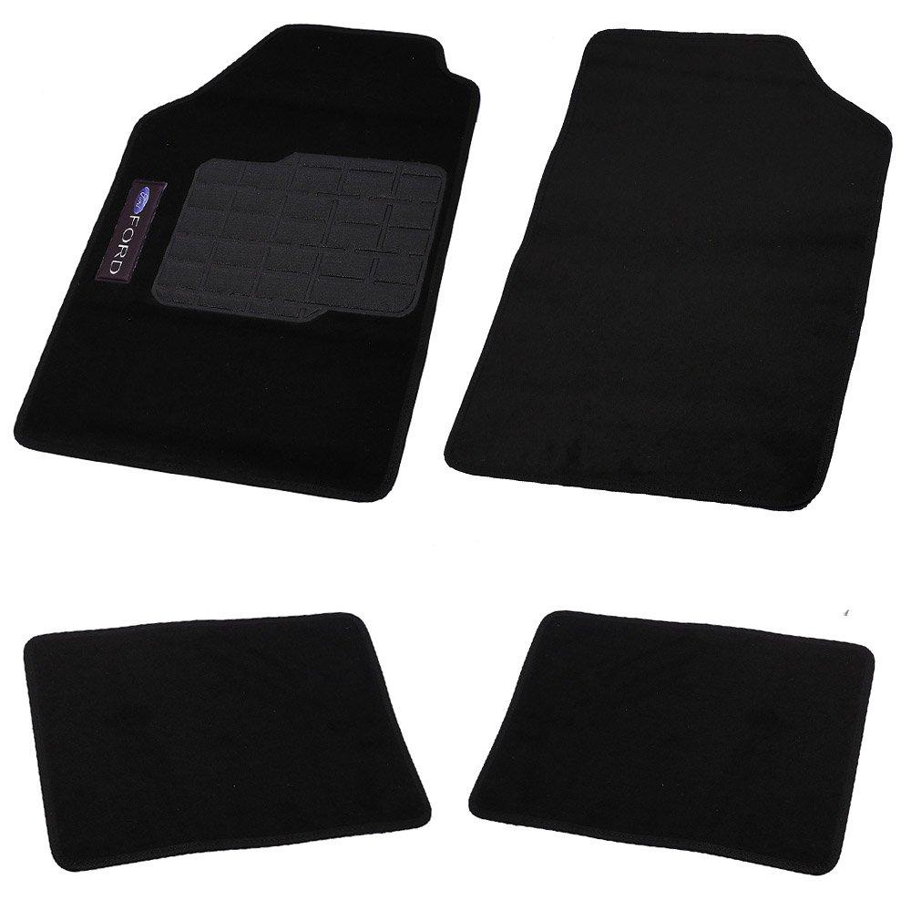 Jogo de Tapetes Carpete Ford Universal Preto com 4 Peças - Imagem zoom