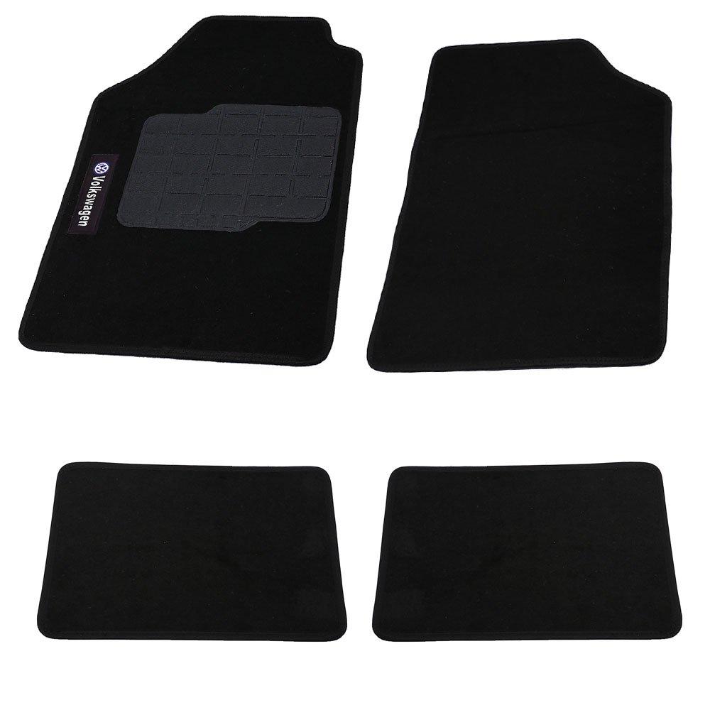 Jogo de Tapetes Carpete Volkswagen Universal Preto com 4 Peças - Imagem zoom