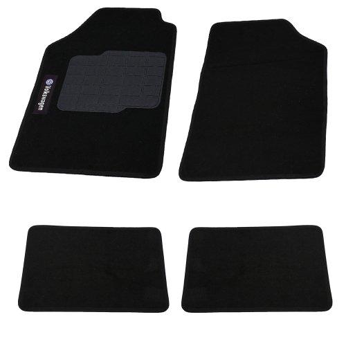 jogo de tapetes carpete volkswagen universal preto com 4 peças