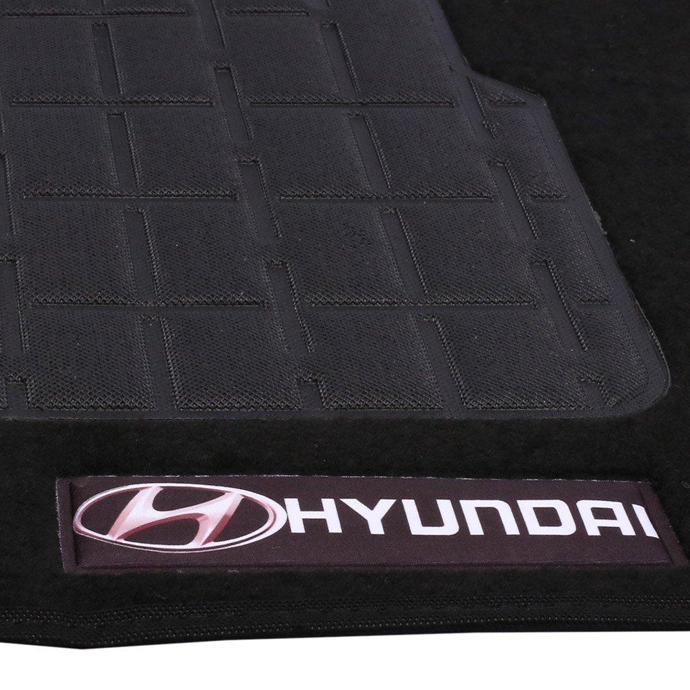 Jogo de Tapetes Carpete Hyundai Universal Preto com 4 Peças - Imagem zoom
