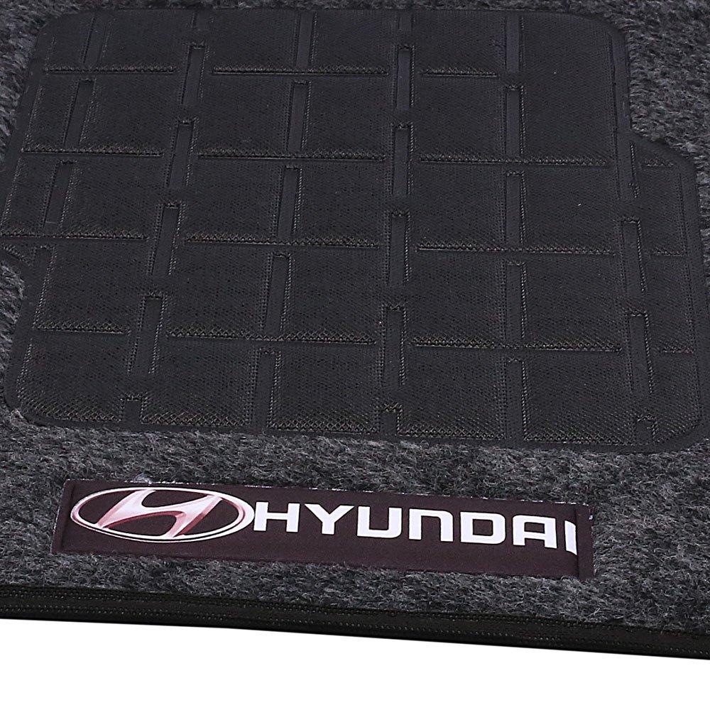 Jogo de Tapetes Carpete Hyundai Universal Grafite com 4 Peças - Imagem zoom
