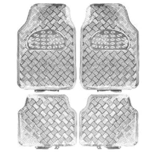 jogo de tapetes em alumínio prata para automóveis
