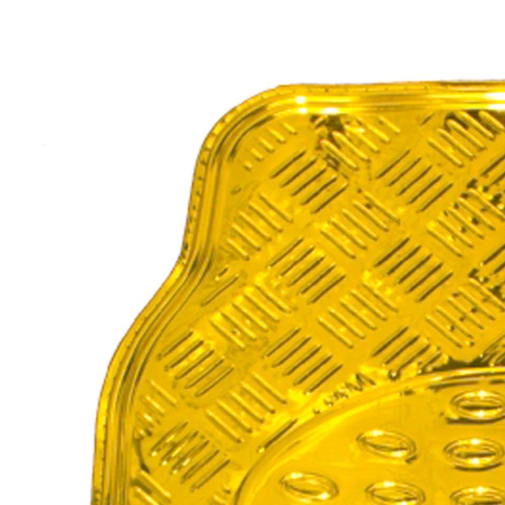 Jogo de Tapetes em Alumínio Dourado para Automóveis - Imagem zoom