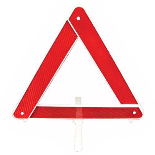 triângulo de segurança simples com base branca