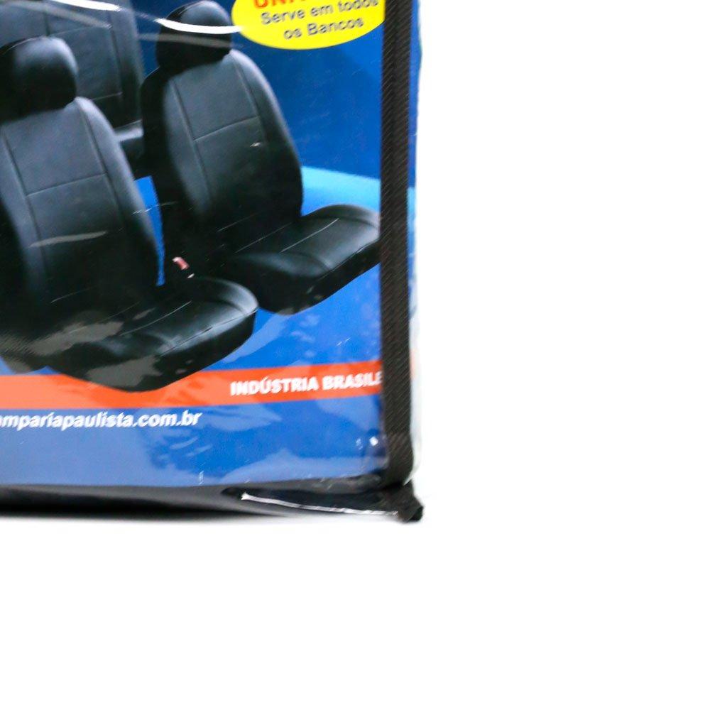 Jogo de Capa para Banco em Nylon Azul e Preto - Imagem zoom