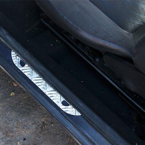 Soleira para Porta Traseira  Xadrez em Alumínio - Imagem zoom