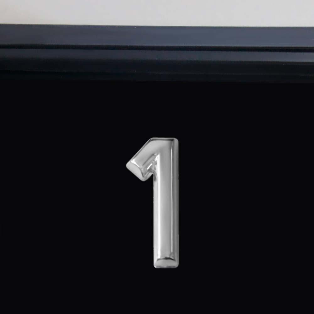 Número 1 Cromado em ABS 39 mm - Imagem zoom