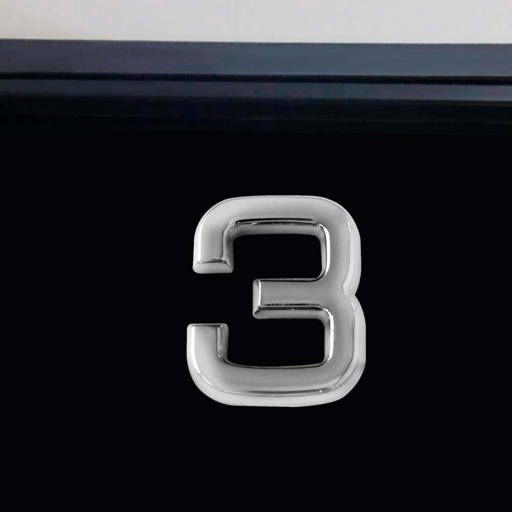 Número 3 Cromado em ABS 39 mm - Imagem zoom