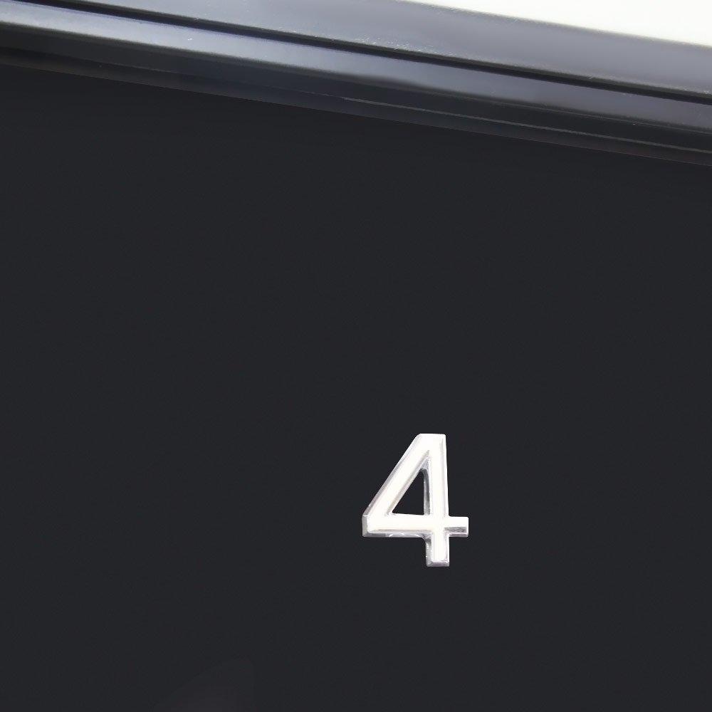 Número 4 Cromado em ABS 39 mm - Imagem zoom