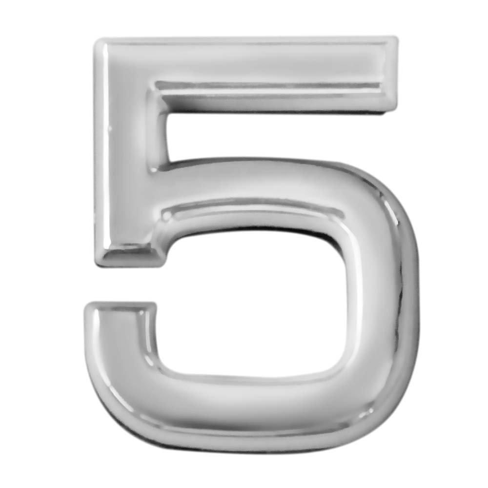 Número 5 Cromado em ABS 39 mm  - Imagem zoom
