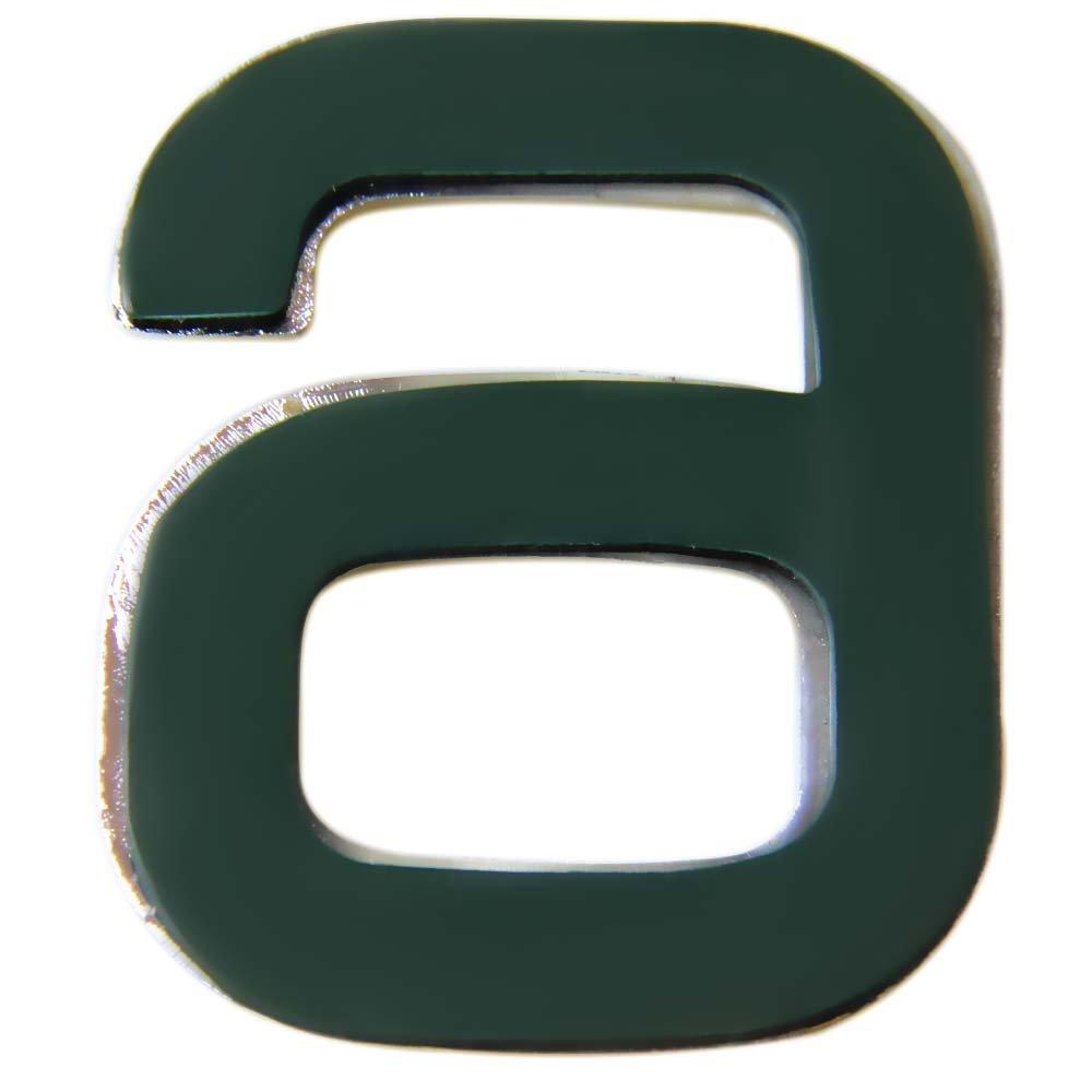 Número 6 Cromado em ABS 39 mm - Imagem zoom