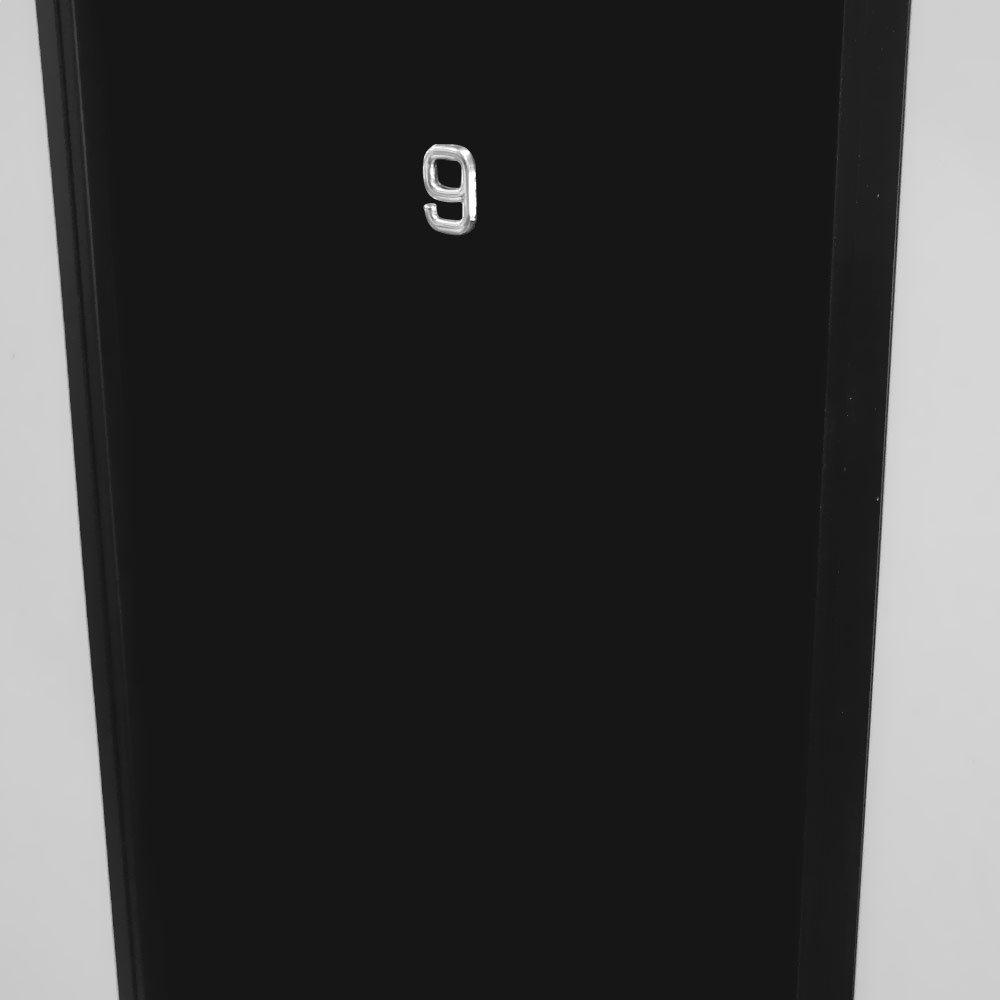 Número 9 Cromado em ABS 39 mm - Imagem zoom