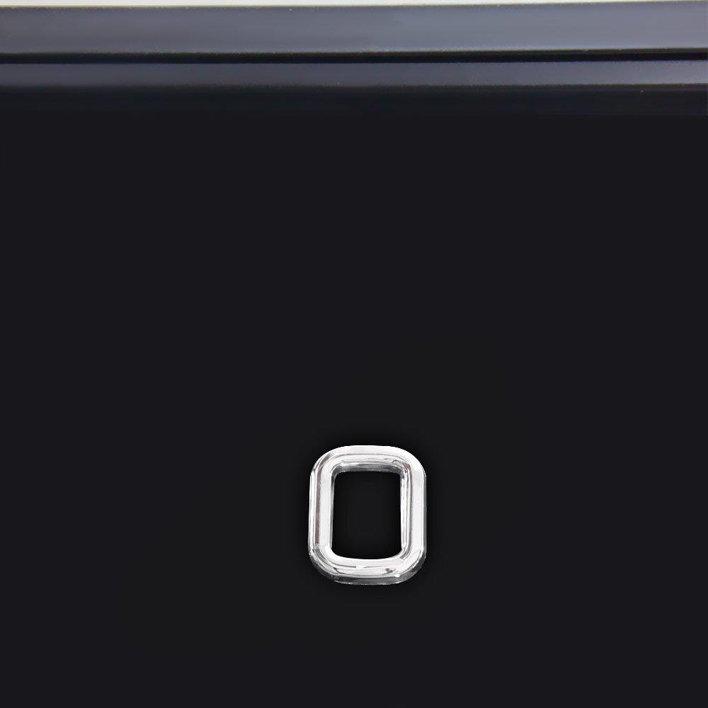 Número 0 Cromado em ABS 39 mm   - Imagem zoom