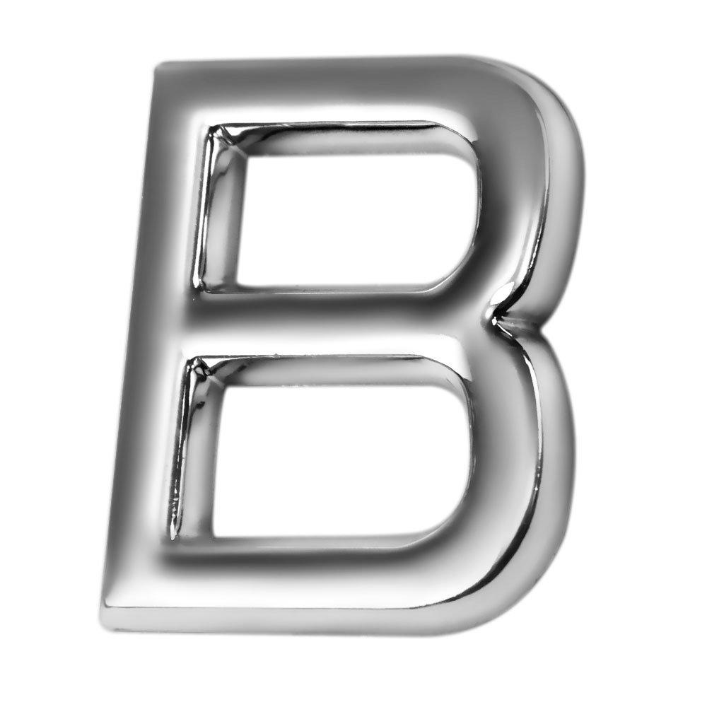 Letra B 39 mm Cromada - Imagem zoom