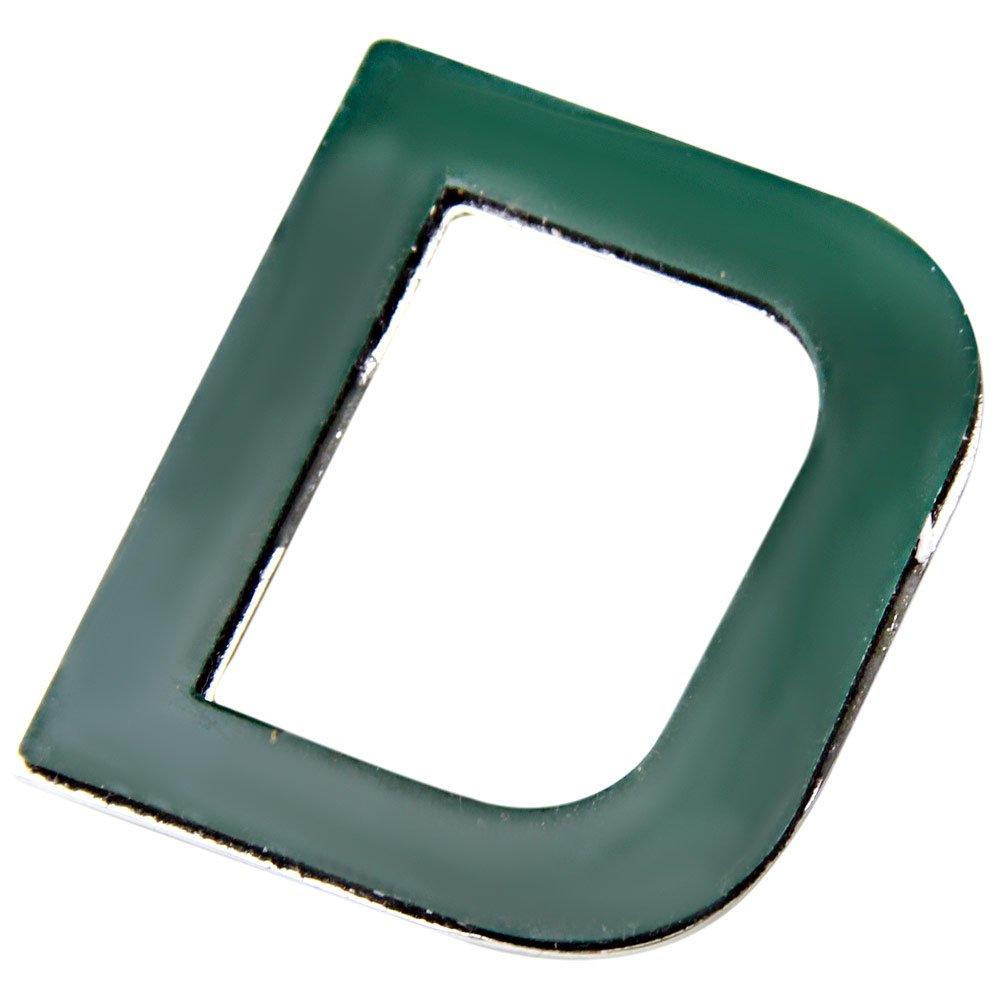 Letra D em ABS Cromada Autoadesiva de 39mm - Imagem zoom