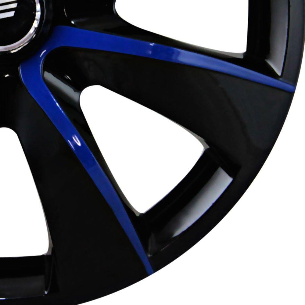 Calota Aro 13 Prime Cubo 4 x 100 / 4 x 108 Preto e Azul - 01 Unidade - Imagem zoom