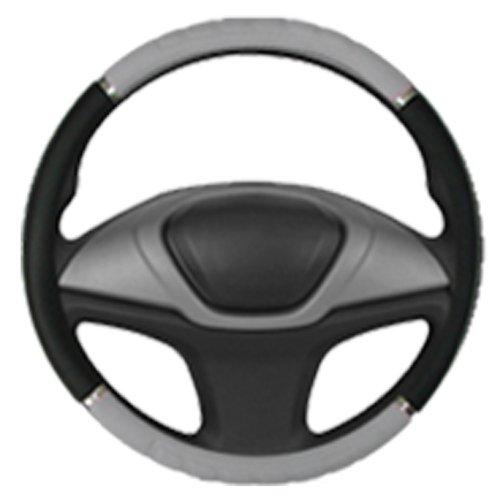 capa para volante preto com cinza