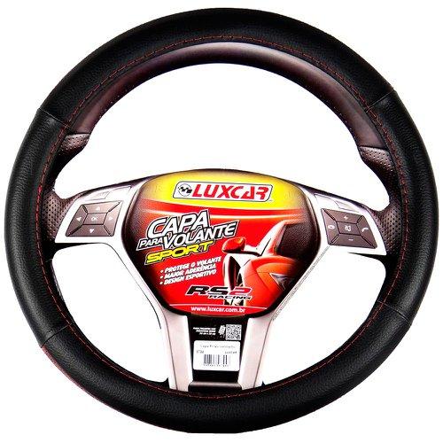capa para volante sport com friso vermelho