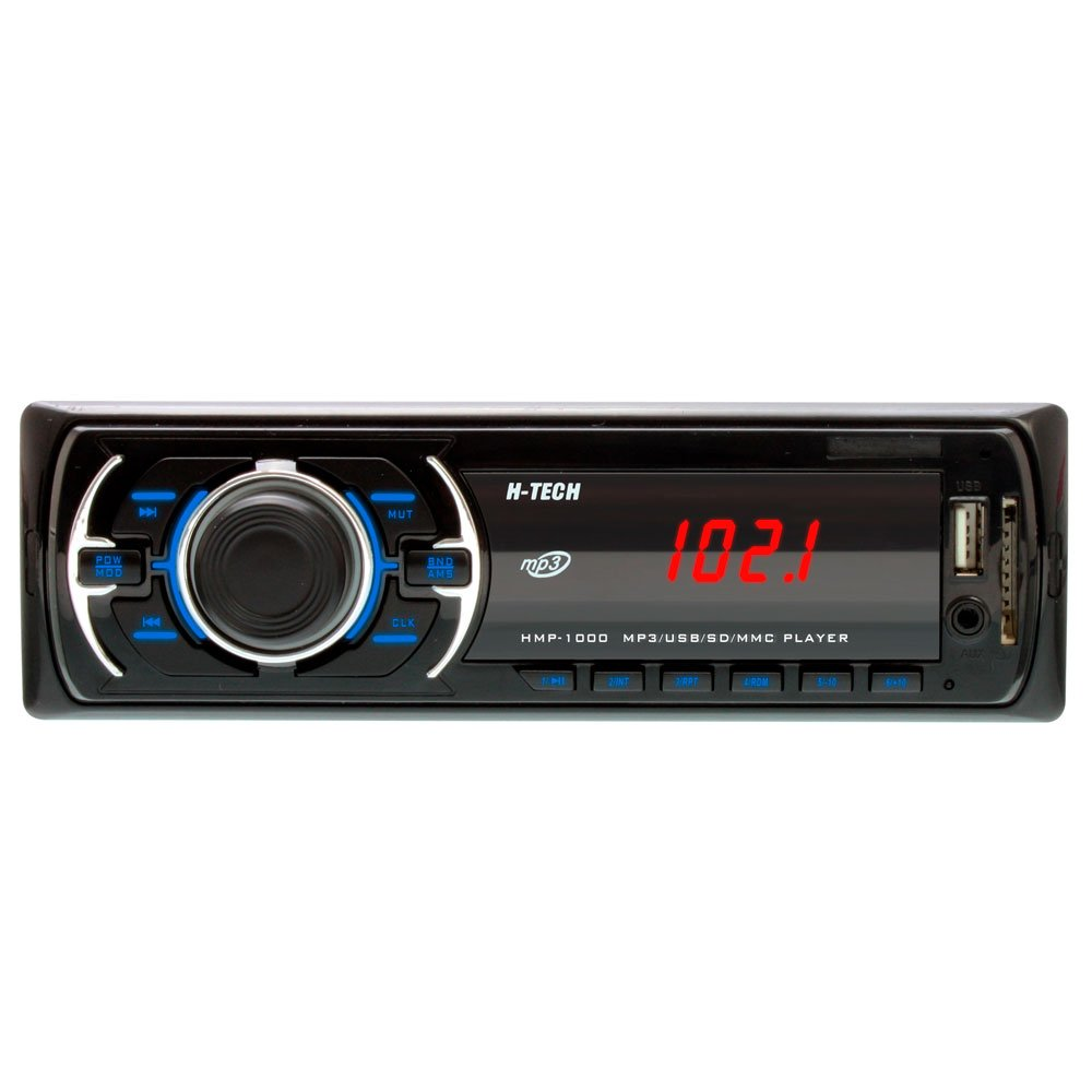 0a5cd545f7f Som Automotivo MP3 Display LED com Botão Preto e Leitor USB