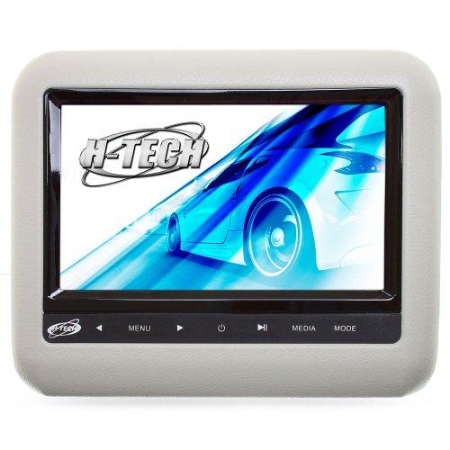 encosto de cabeça acoplável com monitor 9 pol. e leitor dvd/usb/mp3/mp4/mp5 cinza