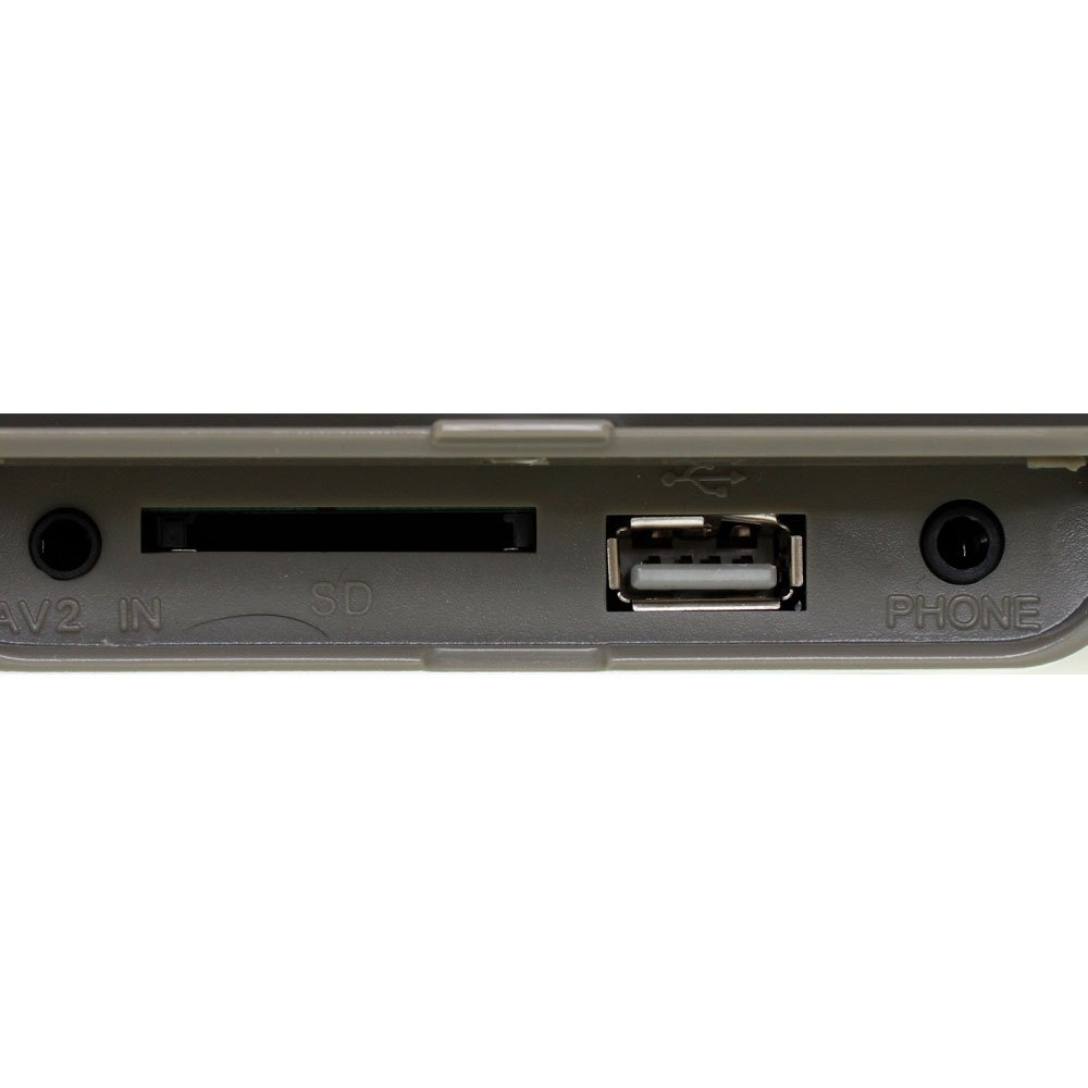 Encosto de Cabeça com Monitor LED e Leitor DVD/USB/MP3/MP4 7 Pol. Cinza - Imagem zoom